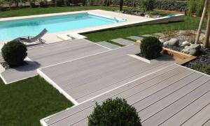 Liaison terrasse-piscine proche Saint-Orens
